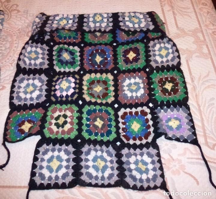 Antigüedades: 2 antiguos cubre sillon de lana realizada a mano - Crochet. - Foto 5 - 168121904