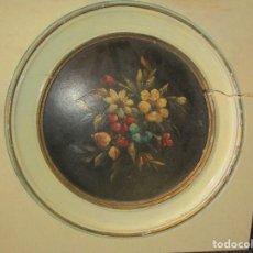 Antigüedades: CUADRO PINTURA AL OLEO ORIGINAL CON MARCO DE MADERA . Lote 168163232