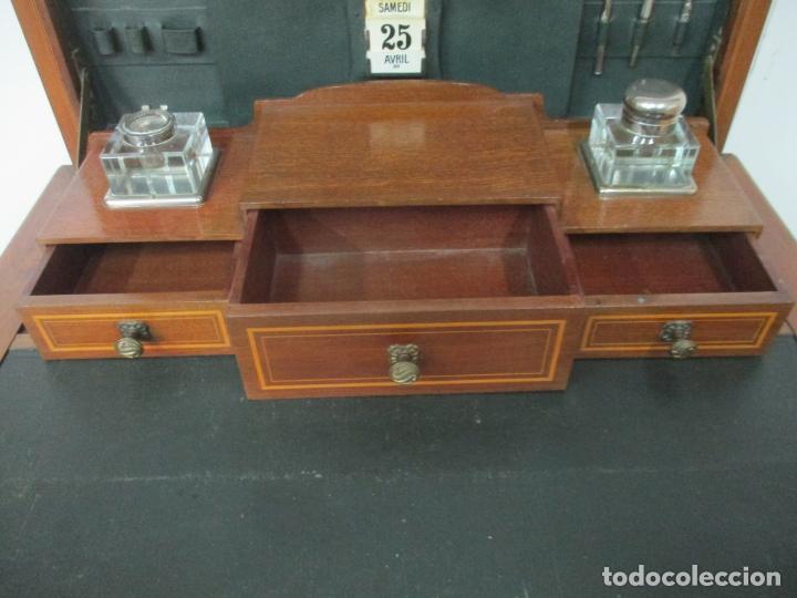 Antigüedades: Curiosa Mesa de Despacho - Art Deco - Escribanía Camuflada - Madera de Caoba - Años 20-30 - Foto 6 - 168188884