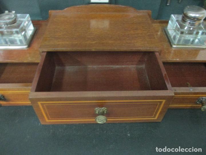 Antigüedades: Curiosa Mesa de Despacho - Art Deco - Escribanía Camuflada - Madera de Caoba - Años 20-30 - Foto 7 - 168188884