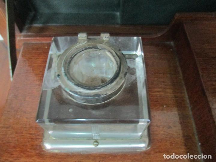 Antigüedades: Curiosa Mesa de Despacho - Art Deco - Escribanía Camuflada - Madera de Caoba - Años 20-30 - Foto 8 - 168188884