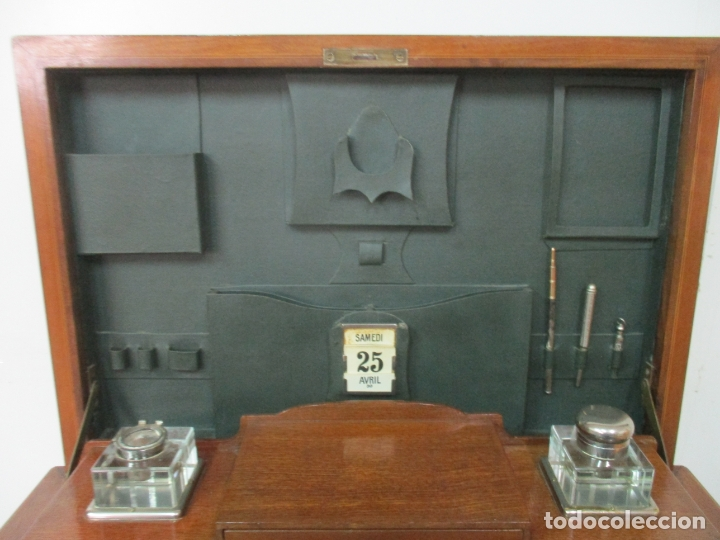 Antigüedades: Curiosa Mesa de Despacho - Art Deco - Escribanía Camuflada - Madera de Caoba - Años 20-30 - Foto 9 - 168188884