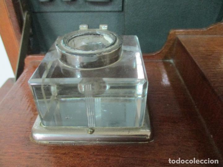 Antigüedades: Curiosa Mesa de Despacho - Art Deco - Escribanía Camuflada - Madera de Caoba - Años 20-30 - Foto 10 - 168188884