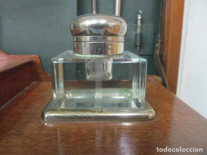 Antigüedades: Curiosa Mesa de Despacho - Art Deco - Escribanía Camuflada - Madera de Caoba - Años 20-30 - Foto 11 - 168188884