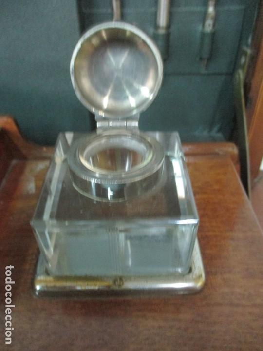 Antigüedades: Curiosa Mesa de Despacho - Art Deco - Escribanía Camuflada - Madera de Caoba - Años 20-30 - Foto 12 - 168188884