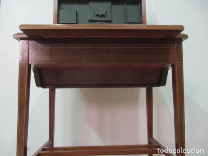 Antigüedades: Curiosa Mesa de Despacho - Art Deco - Escribanía Camuflada - Madera de Caoba - Años 20-30 - Foto 18 - 168188884