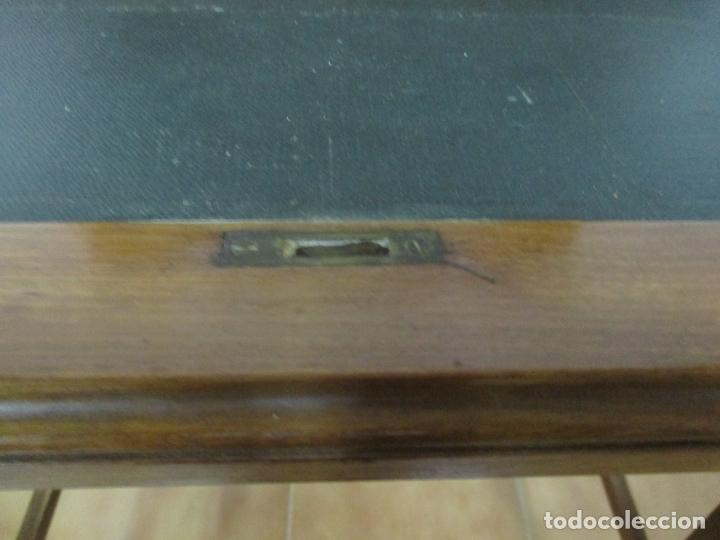 Antigüedades: Curiosa Mesa de Despacho - Art Deco - Escribanía Camuflada - Madera de Caoba - Años 20-30 - Foto 19 - 168188884