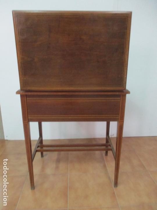 Antigüedades: Curiosa Mesa de Despacho - Art Deco - Escribanía Camuflada - Madera de Caoba - Años 20-30 - Foto 25 - 168188884