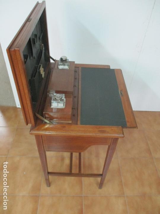 Antigüedades: Curiosa Mesa de Despacho - Art Deco - Escribanía Camuflada - Madera de Caoba - Años 20-30 - Foto 26 - 168188884
