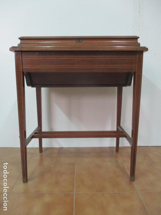 Antigüedades: Curiosa Mesa de Despacho - Art Deco - Escribanía Camuflada - Madera de Caoba - Años 20-30 - Foto 30 - 168188884
