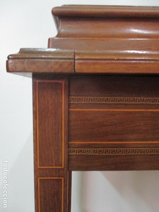 Antigüedades: Curiosa Mesa de Despacho - Art Deco - Escribanía Camuflada - Madera de Caoba - Años 20-30 - Foto 33 - 168188884