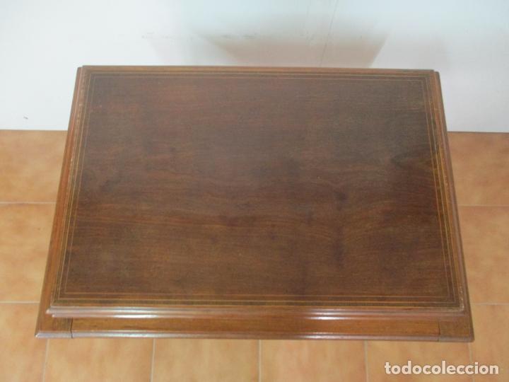 Antigüedades: Curiosa Mesa de Despacho - Art Deco - Escribanía Camuflada - Madera de Caoba - Años 20-30 - Foto 35 - 168188884