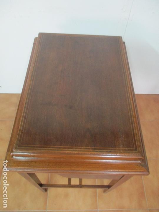 Antigüedades: Curiosa Mesa de Despacho - Art Deco - Escribanía Camuflada - Madera de Caoba - Años 20-30 - Foto 40 - 168188884