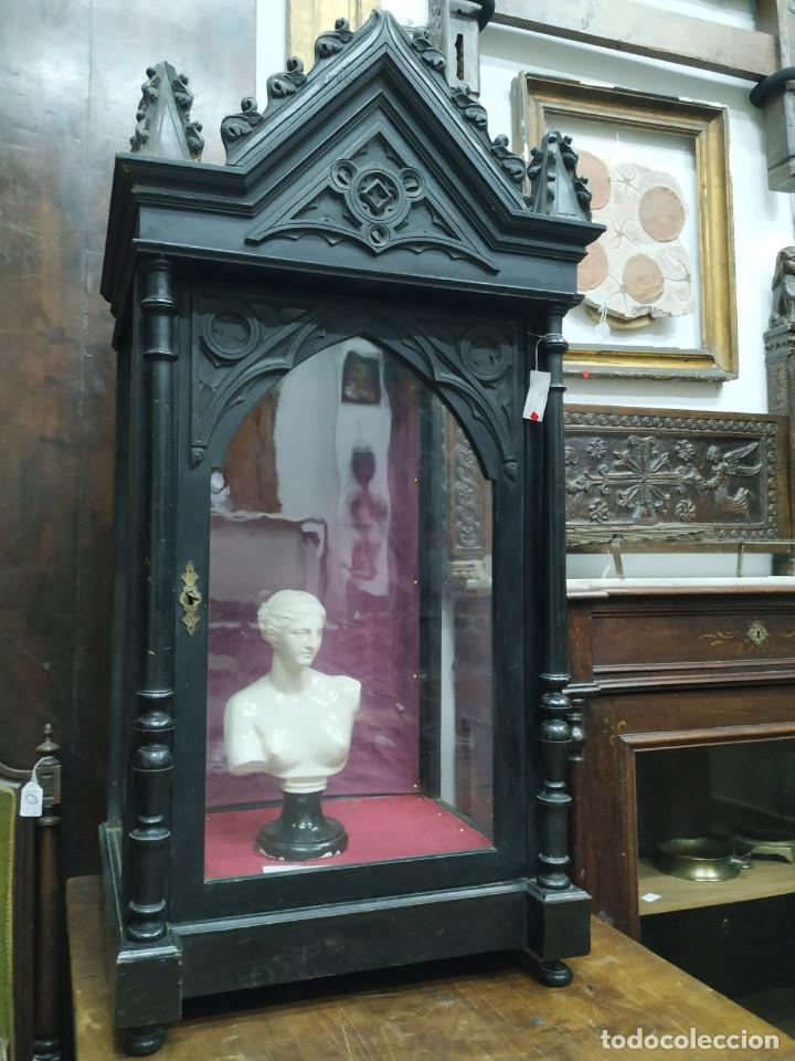 Antigüedades: VITRINA DE MADERA S.XIX - Foto 3 - 168204572