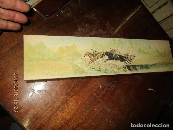 Antigüedades: ANTIGUO ABANICO GRANDE DE MARFIL Y SEDA CON PINTURA S XIX NECESITA ARREGLO PRECIOSA CAJA CABALLOS - Foto 6 - 168211724