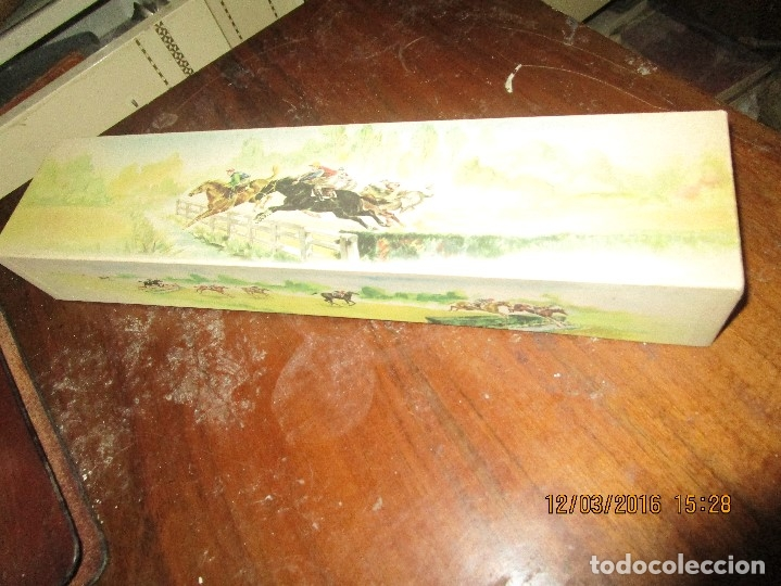 Antigüedades: ANTIGUO ABANICO GRANDE DE MARFIL Y SEDA CON PINTURA S XIX NECESITA ARREGLO PRECIOSA CAJA CABALLOS - Foto 35 - 168211724