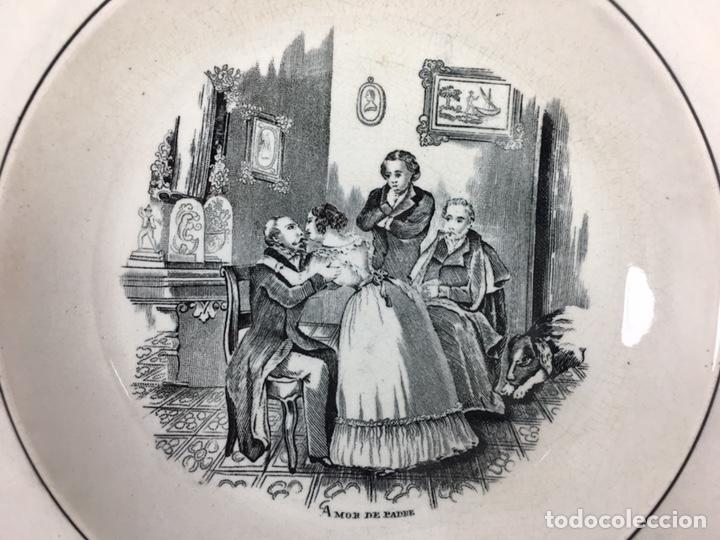 Antigüedades: Amor de Padre - Plato antiguo de cerámica de Valarino Cartagena - Foto 3 - 168249181