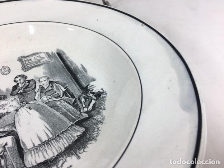 Antigüedades: Amor de Padre - Plato antiguo de cerámica de Valarino Cartagena - Foto 5 - 168249181