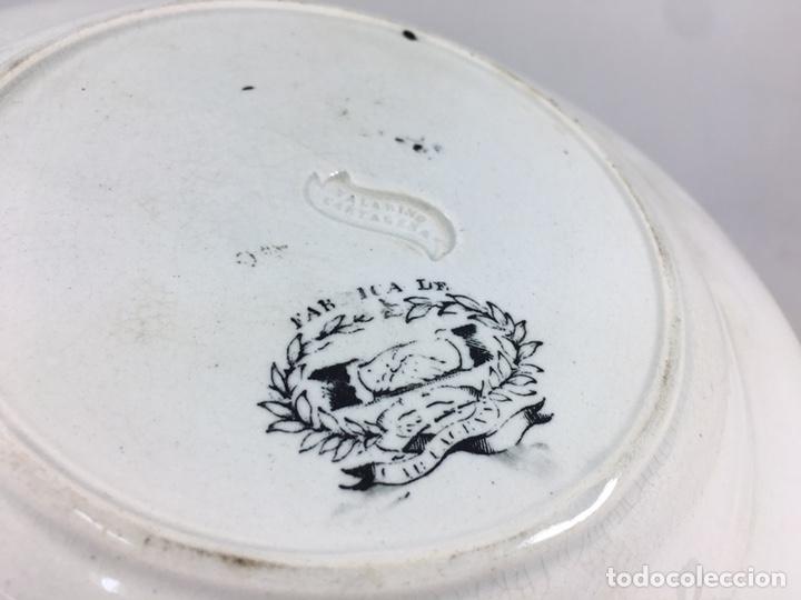 Antigüedades: Amor de Padre - Plato antiguo de cerámica de Valarino Cartagena - Foto 8 - 168249181