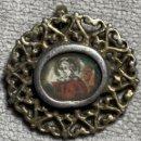 Antigüedades: RELICARIO DE PLATA SOBREDORADA - GRABADOS ILUMINADOS - JESUCRISTO - SIGLO XVIII. Lote 168250332