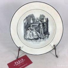 Antigüedades: AMAR SIN RESULTADO - PLATO ANTIGUO CON FIRMA DE CERÁMICA DE VALARINO CARTAGENA. Lote 168251074