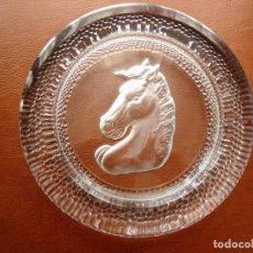 Antigüedades: ESPECTACULAR CENICERO DE CRISTAL MUY GRUESO DE GRAN FORMATO. Lote 168255136
