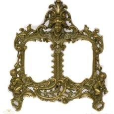 Antigüedades: ESPECTACULAR MARCO PARA FOTOS, EN BRONCE MACIZO DE DISEÑO RECOCO.. Lote 168255628