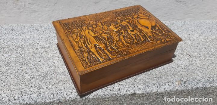 Antigüedades: Antigüa caja de fumador - Foto 2 - 168272444