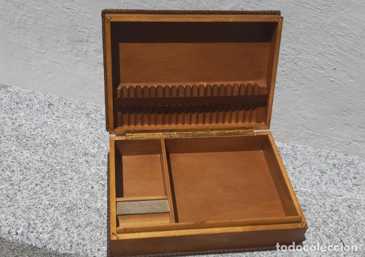 Antigüedades: Antigüa caja de fumador - Foto 4 - 168272444