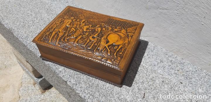 Antigüedades: Antigüa caja de fumador - Foto 5 - 168272444