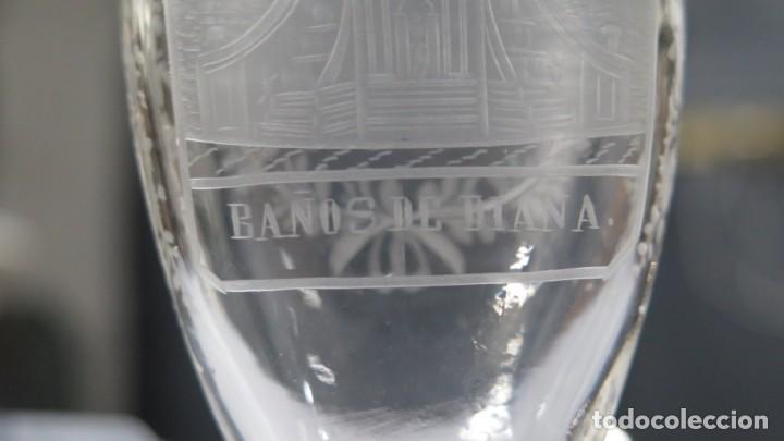 Antigüedades: VASO RECUERDO. BAÑOS DE DIANA. LA GRANJA. SEGOVIA. FINALES SIGLO XIX - Foto 3 - 168306828
