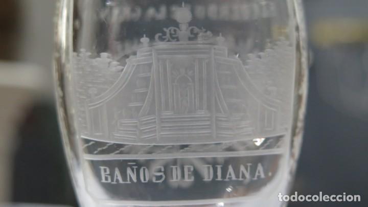 Antigüedades: VASO RECUERDO. BAÑOS DE DIANA. LA GRANJA. SEGOVIA. FINALES SIGLO XIX - Foto 4 - 168306828