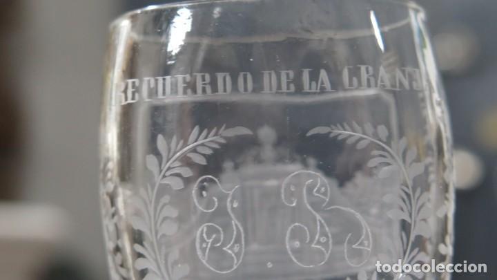 Antigüedades: VASO RECUERDO. BAÑOS DE DIANA. LA GRANJA. SEGOVIA. FINALES SIGLO XIX - Foto 5 - 168306828