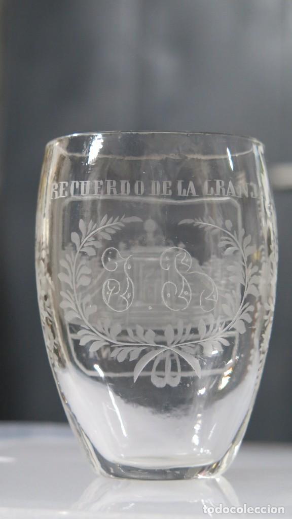 Antigüedades: VASO RECUERDO. BAÑOS DE DIANA. LA GRANJA. SEGOVIA. FINALES SIGLO XIX - Foto 8 - 168306828