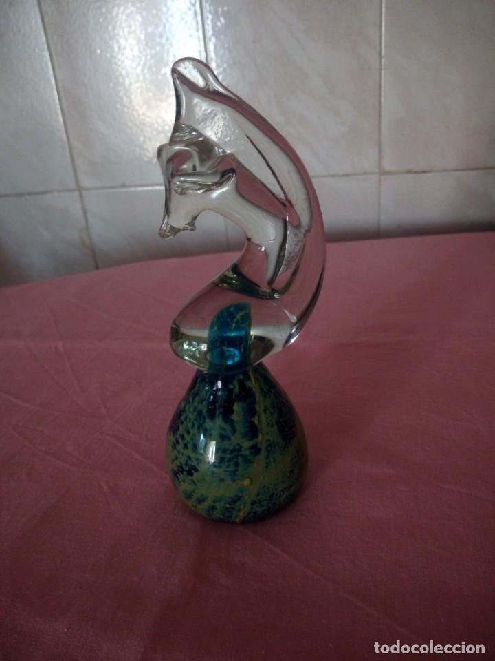 Antigüedades: Precioso caballito de mar de cristal de murano.bonitos colores. - Foto 3 - 168326244
