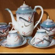 Antigüedades: JUEGO CAFÉ PORCELANA JAPONESA. Lote 168336910