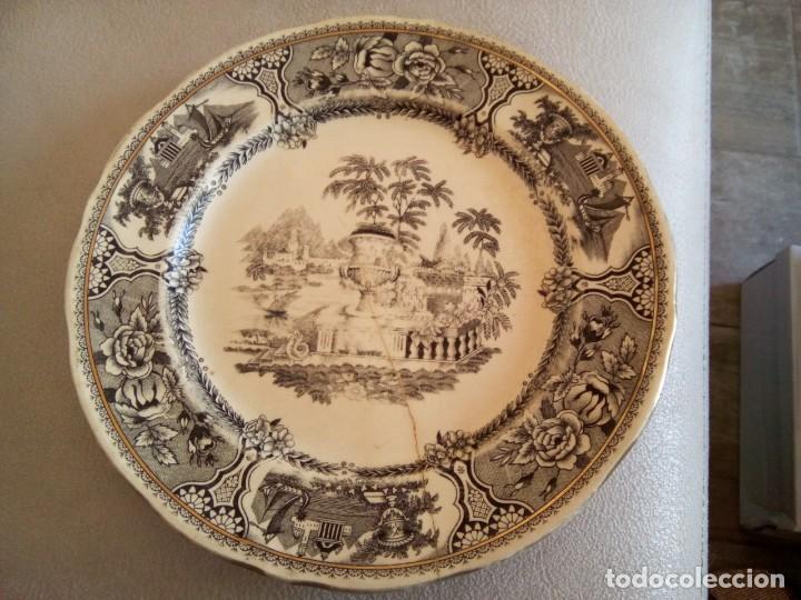 *PLATO SAN CLAUDIO. GRIFE Y ESCODA. (RF( GYG4/A) (Antigüedades - Porcelanas y Cerámicas - San Claudio)