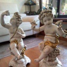 Antigüedades: *ANGELES DE PORCELANA. MALLOL.20 CM. (RF:MB/A*). Lote 168347800