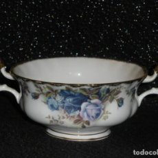 Antigüedades: TAZAS DE CONSOMÉ ROYAL ALBERT MOONLIGHT ROSES. Lote 168349032