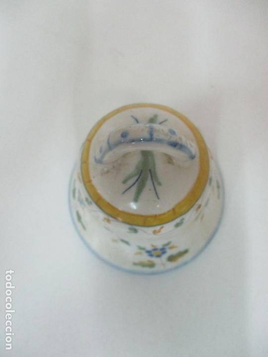 Antigüedades: Bonita Campana, Campanilla - Porcelana Alcora - Firma EF - Foto 6 - 168360860