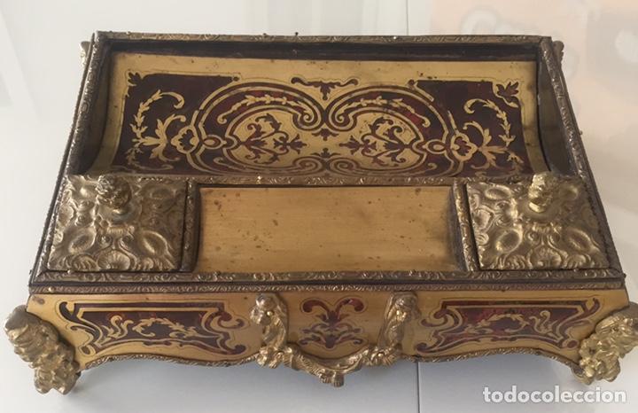 Antigüedades: ANTIGUA ESCRIBANÍA FRANCESA EN MARQUETERÍA BOULLÉ SIGLO XIX - Foto 3 - 168372053