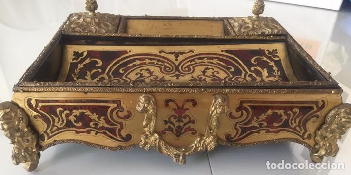 Antigüedades: ANTIGUA ESCRIBANÍA FRANCESA EN MARQUETERÍA BOULLÉ SIGLO XIX - Foto 6 - 168372053