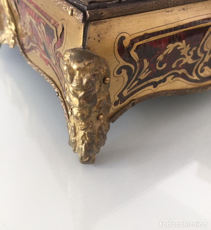 Antigüedades: ANTIGUA ESCRIBANÍA FRANCESA EN MARQUETERÍA BOULLÉ SIGLO XIX - Foto 13 - 168372053