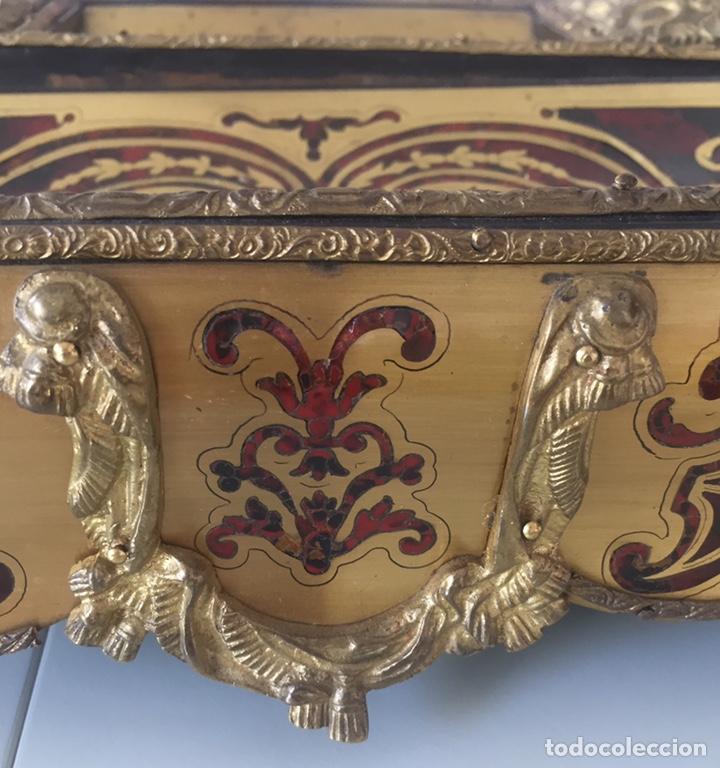 Antigüedades: ANTIGUA ESCRIBANÍA FRANCESA EN MARQUETERÍA BOULLÉ SIGLO XIX - Foto 14 - 168372053