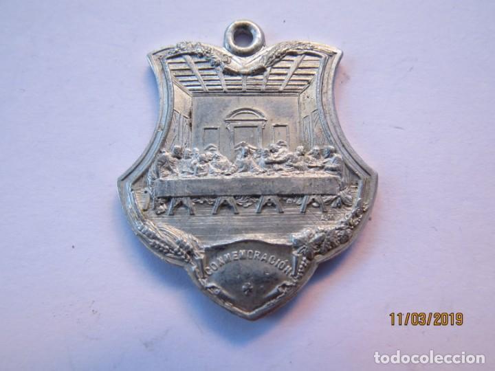 Antigüedades: MEDALLA ALUMINIO 1907-JUEVES EUCARISTICOS - Foto 2 - 168384012