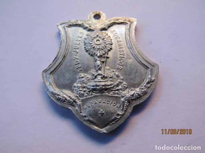 Antigüedades: MEDALLA ALUMINIO 1907-JUEVES EUCARISTICOS - Foto 6 - 168384012