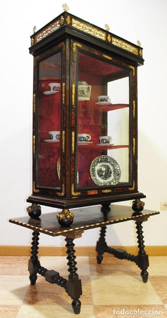 Antigüedades: ANTIGUA E IMPRESIONANTE VITRINA FRANCESA BOULLÉ PRINCIPIOS DEL SIGLO XIX - Foto 3 - 168387208