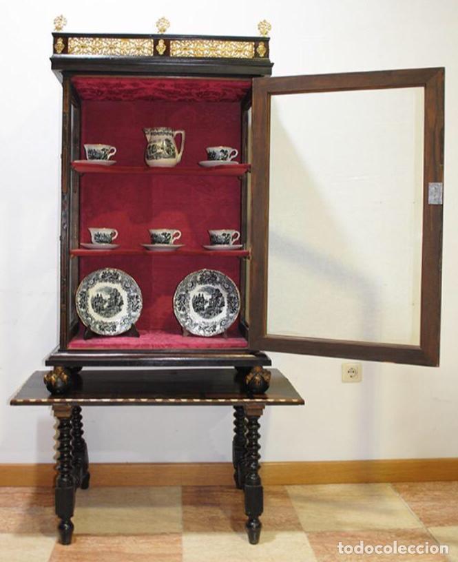 Antigüedades: ANTIGUA E IMPRESIONANTE VITRINA FRANCESA BOULLÉ PRINCIPIOS DEL SIGLO XIX - Foto 4 - 168387208