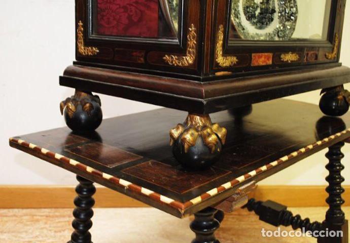 Antigüedades: ANTIGUA E IMPRESIONANTE VITRINA FRANCESA BOULLÉ PRINCIPIOS DEL SIGLO XIX - Foto 10 - 168387208
