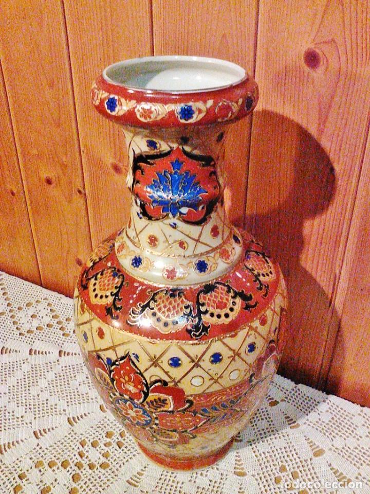 Antigüedades: JARRÓN DE PORCELANA JAPONESA, VINTAGE. - Foto 2 - 168387408